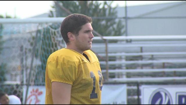 Wesley College Quarterback Striving: Joe Callahan