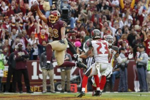 Redskins' tight end Jordan Reed catches his second touchdown pass of the game (AP/Alex Brandon)