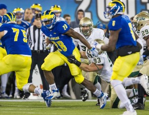 Delaware is led on the ground by Thomas Jefferson's 612 yards (Courtesy bluehens.com)