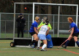 Madi Irwin (#23) shoots and scores Cape's first goal (Photo: Eric Gooch).