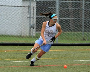 Tess Bernheimer (7) turns the corner (Photo: Eric Gooch).