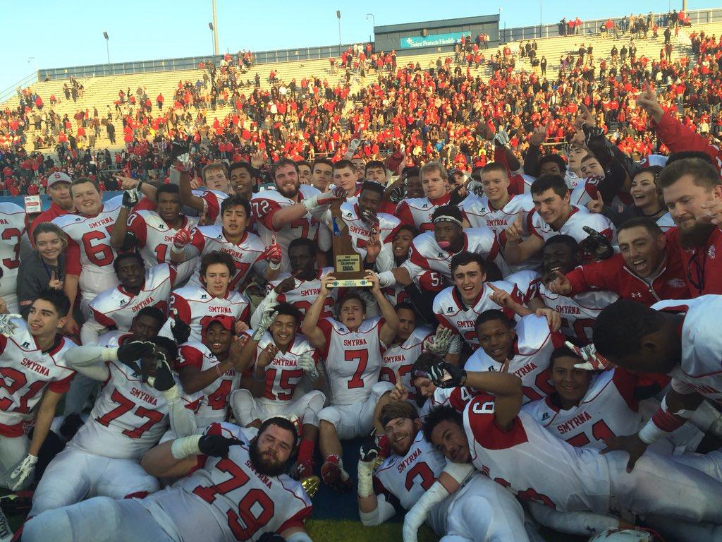 David Slays Goliath; Smyrna Football Wins State Championship