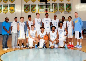 Cape Henlopen plays Bishop McNamara in their opening game of Slam Dunk to the Beach. (courtesy capevikingsports.com)