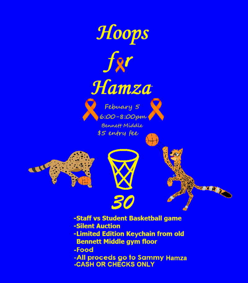 Hoops for Hamza digital flyer