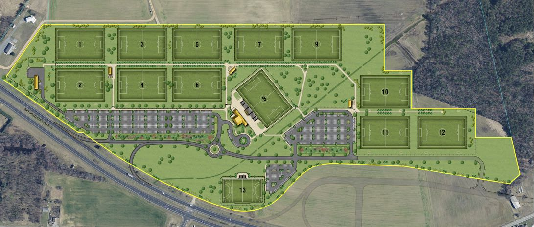 Layout of Kent County Sports Complex (Photo: DE Turf Executive Director Robert Smith)