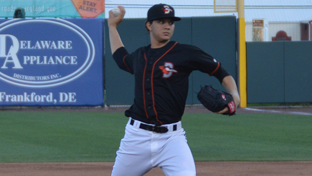 Shorebirds' Alvarado Named Orioles Minor League Pitcher of the Month