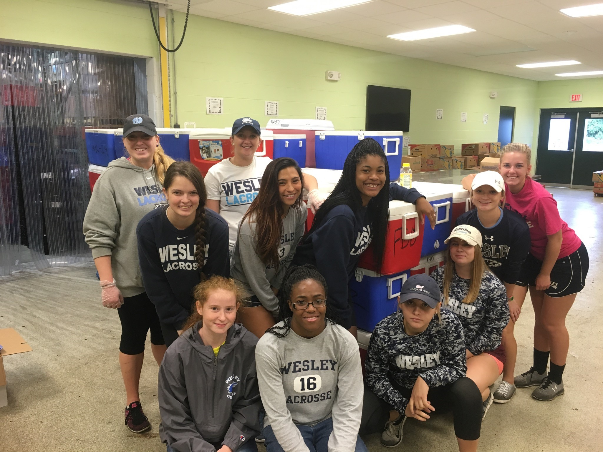Wesley Women's LAX Continues Community Service