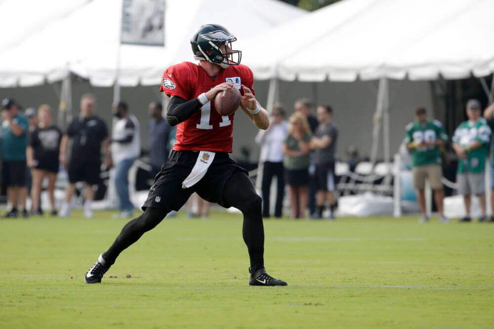 Wentz Back On The Field With The Eagles