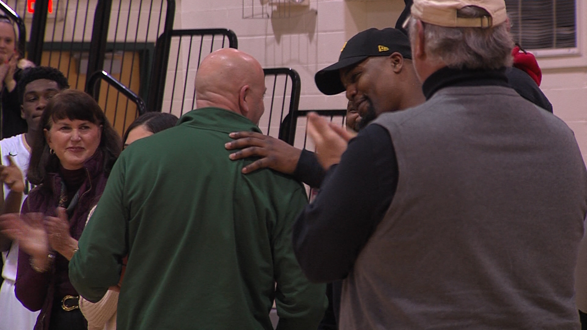 Family and Former Players honor Coach BJ Joseph