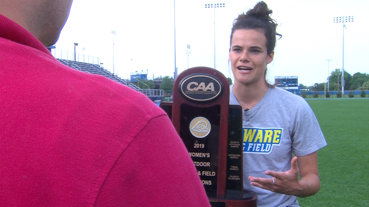"""There is no """"I"""" in team: A look at the CAA Champion University of Delaware Women's Track and Field Team"""