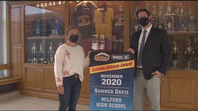 Summer Davis– November 2020 Winner – WBOC Mountaire Scholar Athlete of the Month
