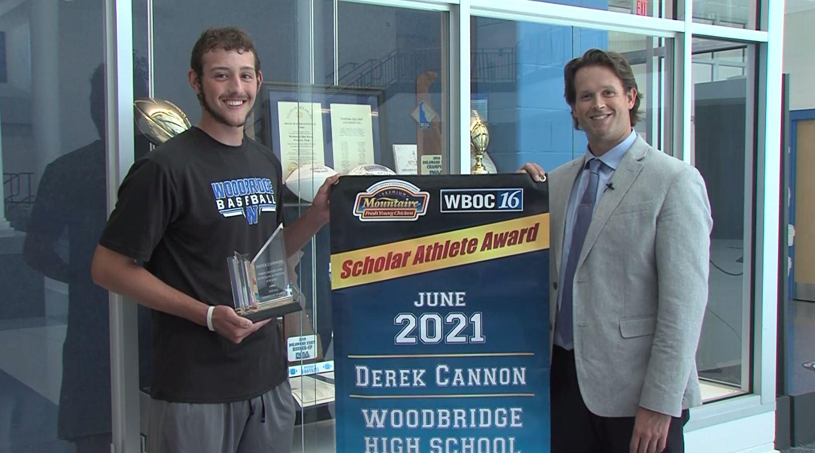 Derek Cannon – June 2021 Winner – WBOC Mountaire Scholar Athlete Of The Month