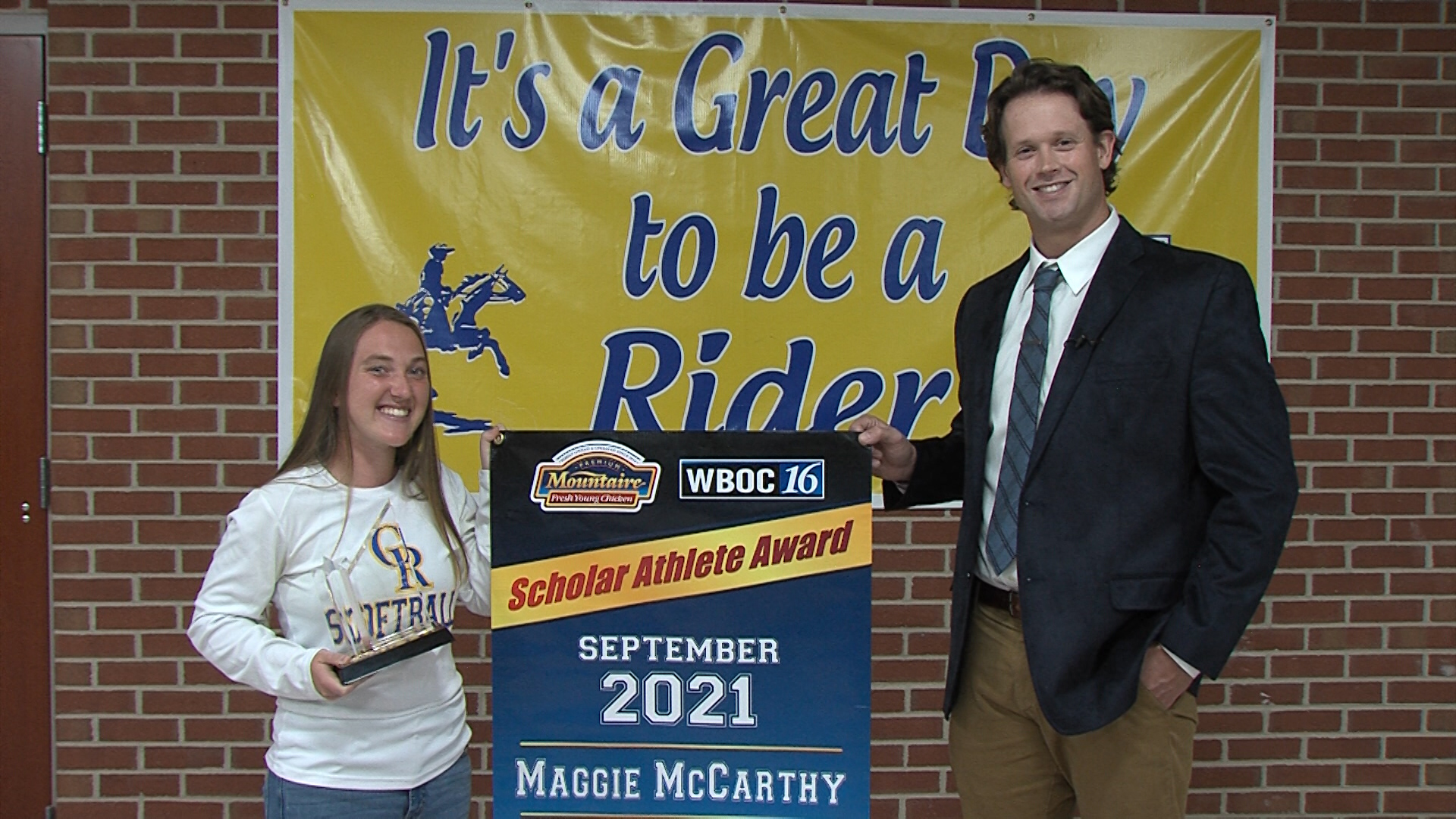 Maggie McCarthy – September 2021 Winner – WBOC Mountaire Scholar Athlete Of The Month