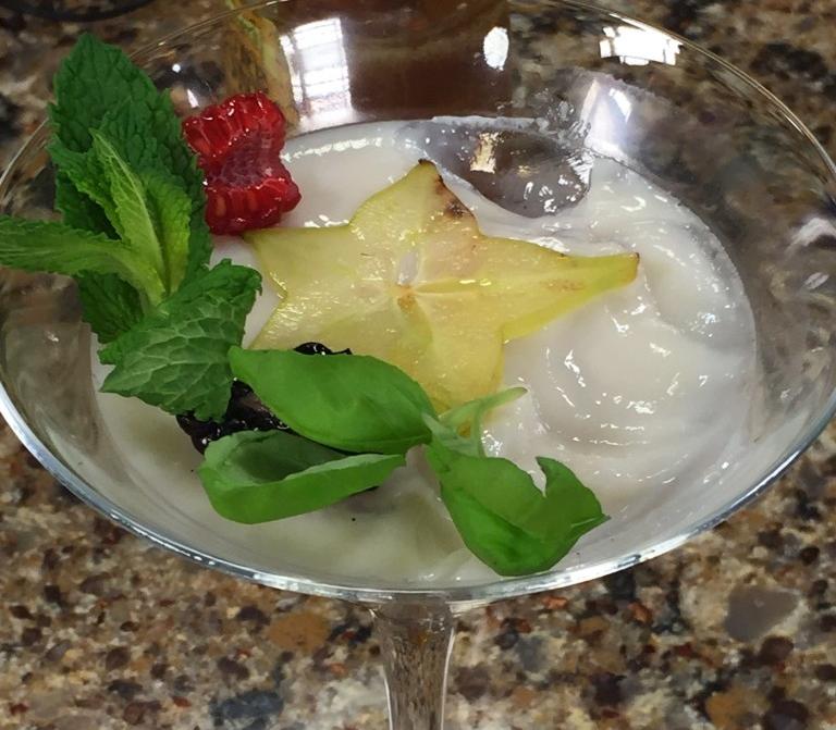 Almond Milk Panna Cotta with Bartlett Pear Inn