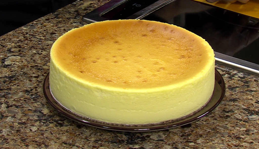 Cheesecake with BJ's Pizza Pasta Grill