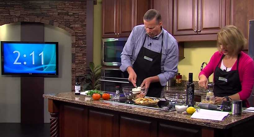 Recipe Challenge Against Lisa & Jimmy with Hummus and Shrimp Salad