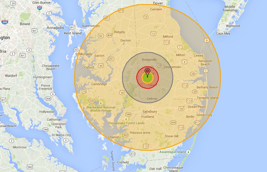 On 70th Anniversary of Hiroshima, NukeMap Illustrates the World's Arsenal Using Chilling Interactive Local Maps