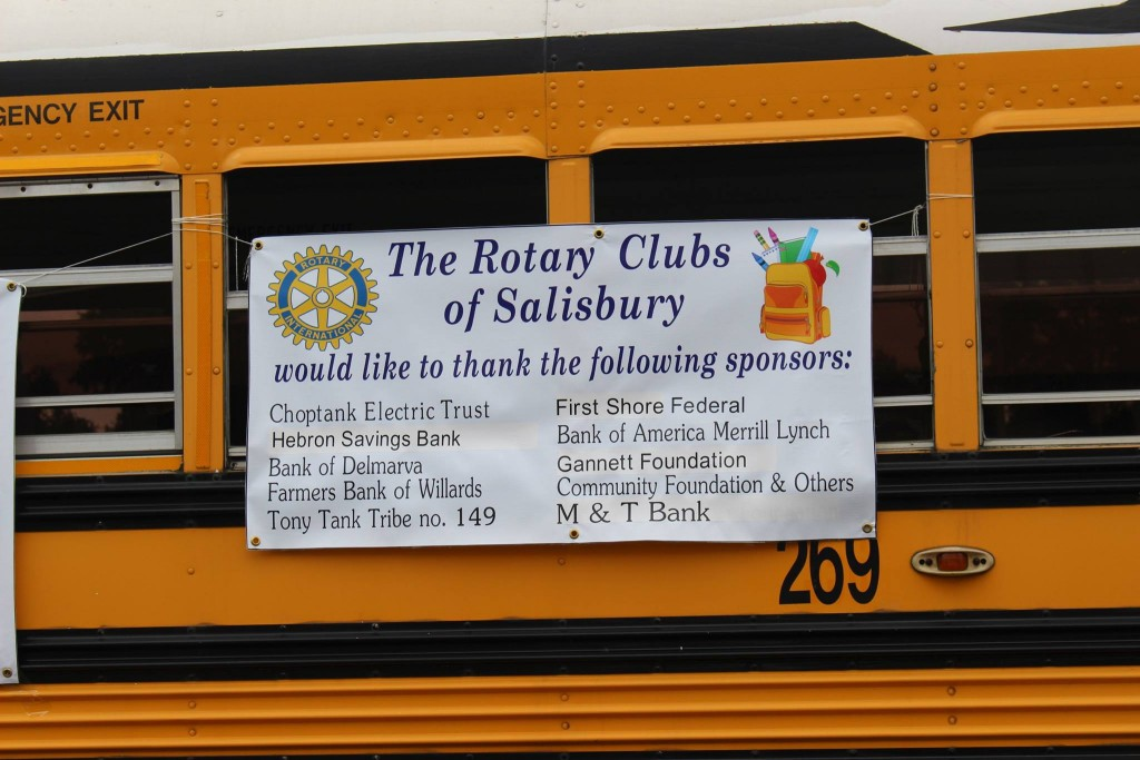 Several Rotary Clubs to Distribute Backpacks at Salisbury Shelter