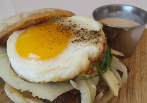 Apple Scrapple English Muffin with Chef Ryan Cunningham from Abbott's on Broad Creek