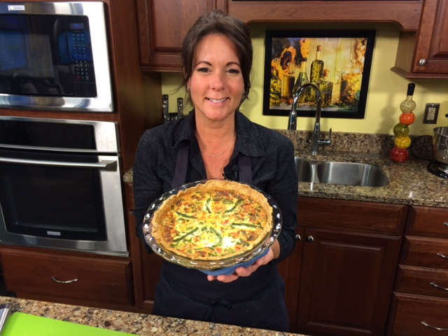 Crab & Asparagus Quiche with Chef Nancy Bolt from The Greenhouse Cafe in Ocean City