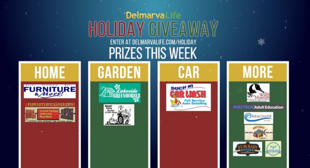Holiday Giveaway Prizing: Week of Nov. 16 – 20