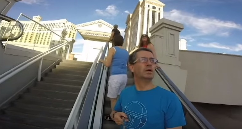 Dad Records Trip to Las Vegas with a GoPro… Aimed Backwards