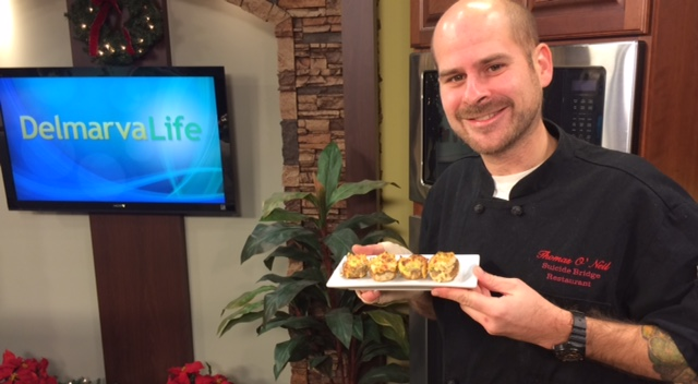 Rockfish Imperial Stuffed Mushrooms with Chef Thomas O'Neill from the Suicide Bridge Restaurant