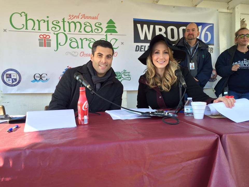 Maxine Bentzel & Chris Weimer Dish on Emceeing Ocean City Christmas Parade