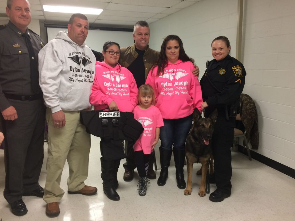 Local Family Donates K-9 Safety Vest to Wicomico County Sheriff's Office