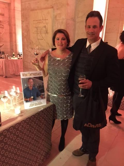 Sam and Mariah Calagione at the Wine Enthusiast Awards, Monday night.