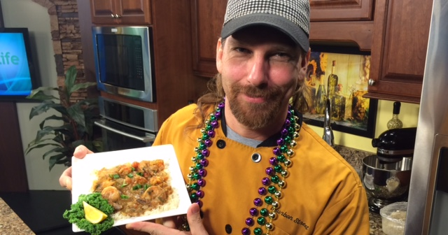 Crawfish Etouffee with Chef Barry Reichart of Bourbon Street on the Beach
