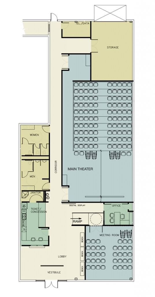 Floor plan for new location