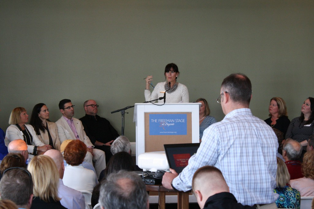 Michelle D. Freeman, President and Chair of the Joshua M. Freeman Foundation spoke at the event.