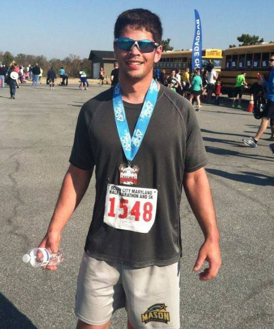 Christopher Rodriguez after the OCMD Island to Island Half Marathon in previous years (Photo: Christopher Rodriguez)