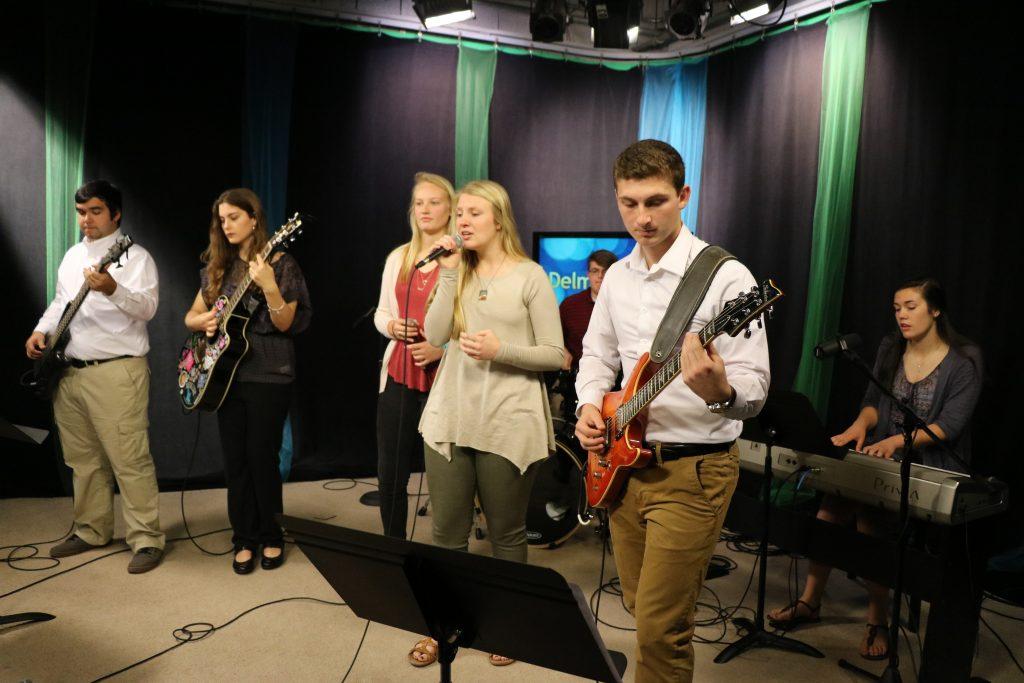 Salisbury Christian School Worship Team Performs Two Songs in the DelmarvaLife Studio