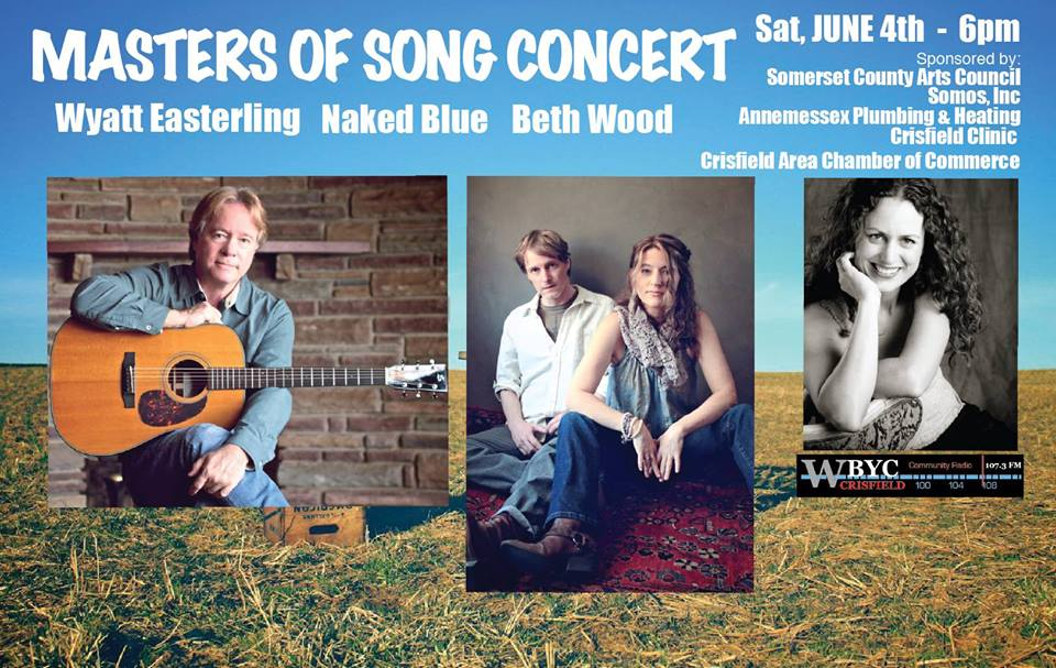 Promotional poster for Masters of Song Concert in Crisfield. (Photo credit: Jennifer Ferguson Smith via Somerset County Tourism Facebook page)