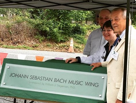 The Music School of Delaware's Johanna Sebastian Bach Music Wing was recently unveiled by Dr. William J. Stegeman, whose gift last summer completed its funding. (Photo credit: The Music School of Delaware)