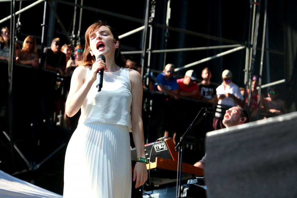 Chvrches rock the house during Saturday's performance (Photo: Lauren Holloway)