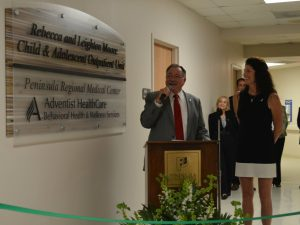 Ribbon cutting for the Rebecca & Leighton Moore Child & Adolescent Outpatient Unit at PRMC