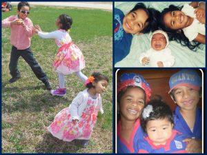 Rachel with her siblings