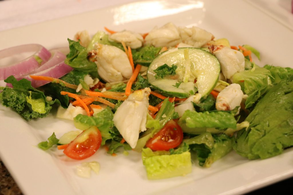 In the Kitchen with President of Black Diamond Catering, Pete Roskovich, Making California Avocado and Crab Salad