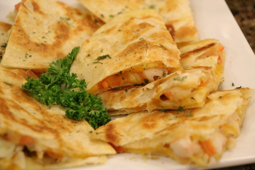 In the Kitchen with Manager of The Salty Wave, Shawn Hardy, Making Shrimp Quesadillas