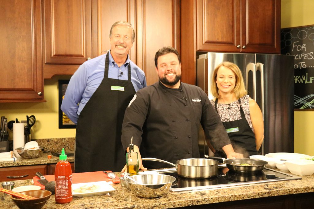 In the Kitchen with Chef Robbie Jester of Stone Balloon Ale House Making a Couple of Dishes and Telling Us About Defeating Bobby Flay