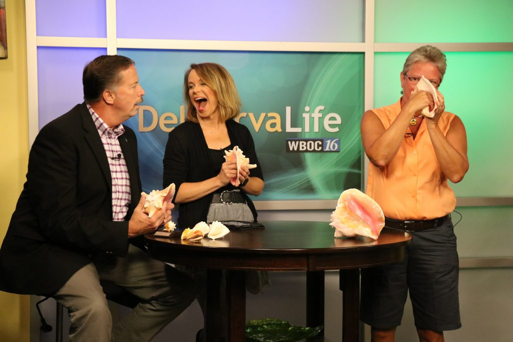 Award Winning Conch Shell Music Maker, Jayne Challman of Rehoboth Beach, Teaches Us How to Play the Conch