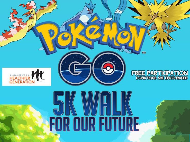 Upcoming Pokemon Go 5k Walk for Our Future Event in Ocean City, Md. Raises Money for Childhood Obesity