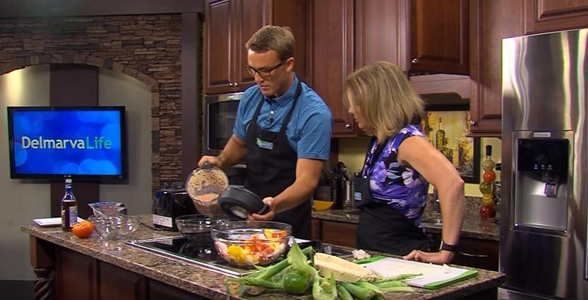 In the Kitchen with Sean Streicher Making Corn Gazpacho