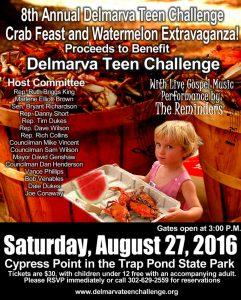 Delmarva Teen Challenge event poster