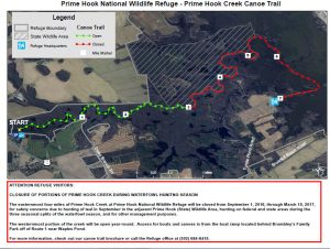 Prime Hook Creek map