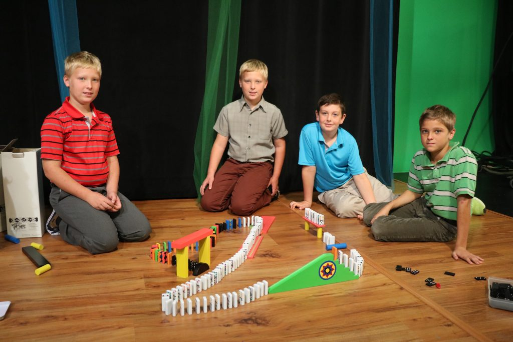 Domino Competition – Sean vs. the Boys and Girls from Mr. Hearn's Class, Faith Baptist School