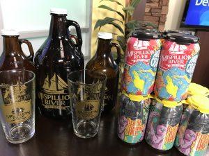 beer tasting, courtesy of Mispillion River Brewing